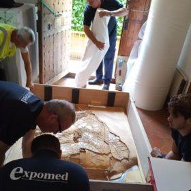 Embalando en el Museo Sefardí