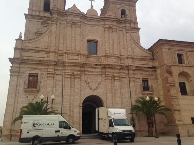 Traslado y montaje en la Universidad de Murcia
